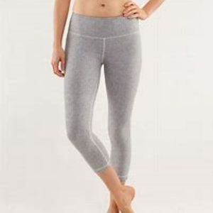 Lululemon Wunder Under Ghost Herringbone Crops